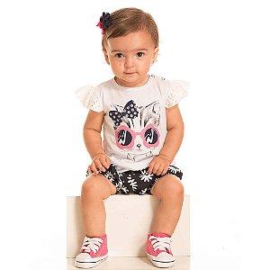 Conjunto Baby Gatinha Branco