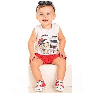 Conjunto Baby Ursinho Love Branco