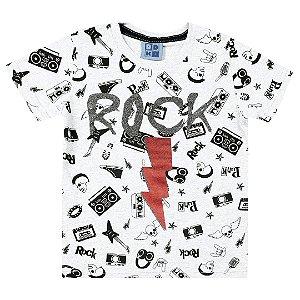 Camiseta Rock Branca