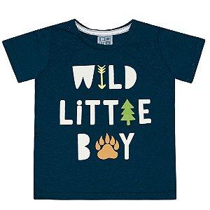 Camiseta Wild Little Boy Marinho