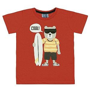 Camiseta Cool Bear Vermelho