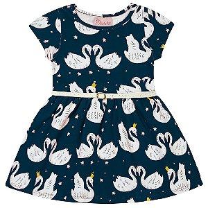 Vestido Cisnes Marinho