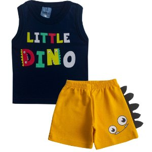 Conjunto Little Dino Marinho