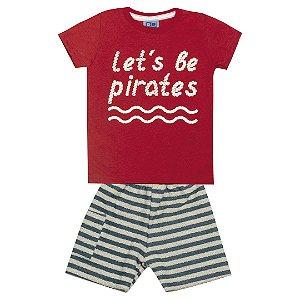 Conjunto Let's Be Pirate Vermelho
