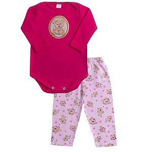 Conjunto Baby Ursinha Pink