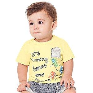 Camiseta Dinos Amarelo