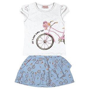 Conjunto Kids Bicicletas Branco