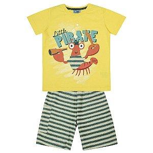 Conjunto Little Pirate Amarelo
