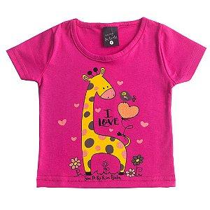 Blusa Kids Girafinha Pink