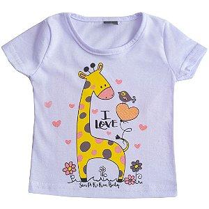 Blusa Kids Girafinha Branco