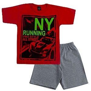 Conjunto Infantil NY Running Vermelho