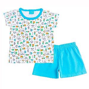 Conjunto Pijama Beep! Beep! Azul