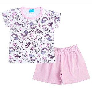 Conjunto Pijama Unicórnio Rosa