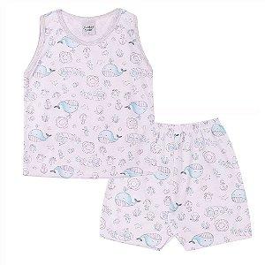 Conjunto Pijama Regata Aquática