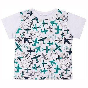 Camiseta Aviões Branco