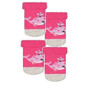 Kit 2 Pares de Meias Recém Nascidos Pink