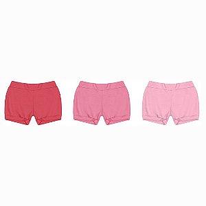 Kit Shorts de Suedine Liso Sortido