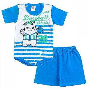 Conjunto Body Baseball Azul