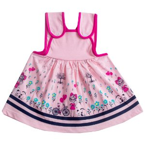 Vestido Menina Bicicleta Rosa