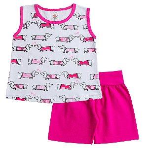 Conjunto Regata Cachorrinho Pink