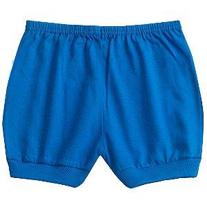Shorts Meia Malha Azul