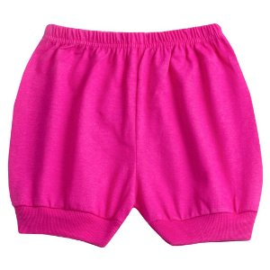Shorts Meia Malha Rosa