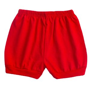Shorts Meia Malha Vermelho
