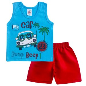 Conjunto My Car Azul