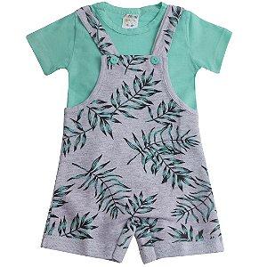 Conjunto Baby Jardineira Verde