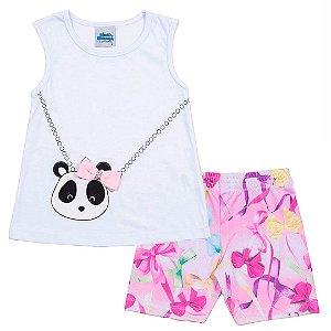 Conjunto Panda Branco