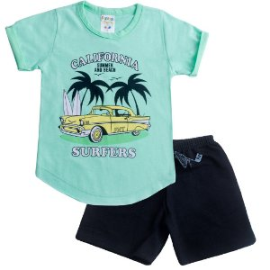 Conjunto Kids Menino Surfers Verde