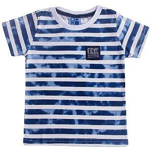 Camiseta Kids Menino Listrado Marinho