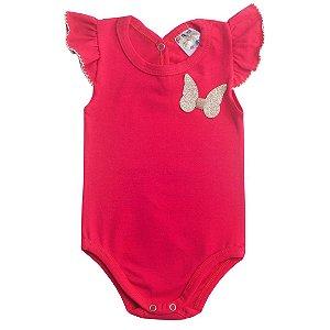 Body Bebê Menina Vermelho