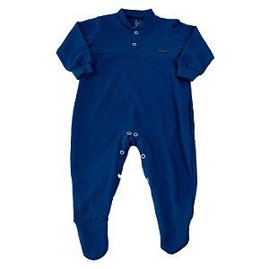 Macacão Longo Baby Azul Marinho