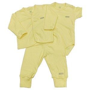 KIT 3 peças amarela
