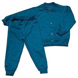 Conjunto Moletom Baby Azul