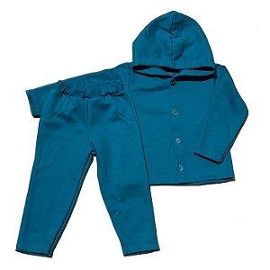 Conjunto Moletom Kids Azul