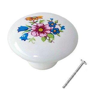 Puxador Flores Porcelana 21000