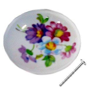 Puxador Porcelana Lilás 21013