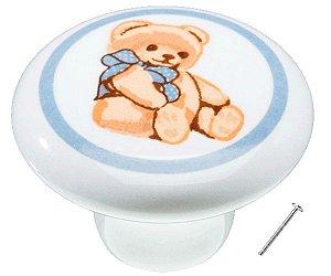 Puxador Urso Para Móveis Infantil Cerâmica IL1737