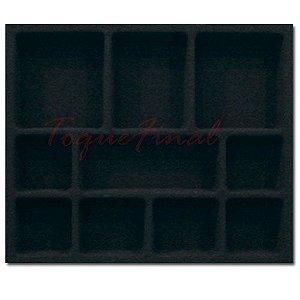 Porta Jóias com Flocagem Preta 410x365mm PJ-02