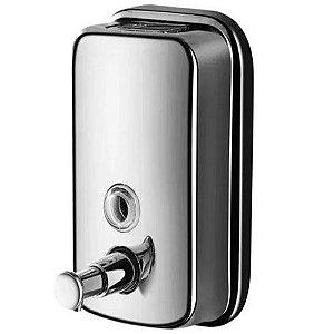 Saboneteira Dispenser Aço Inox Para Álcool Gel 1000ml