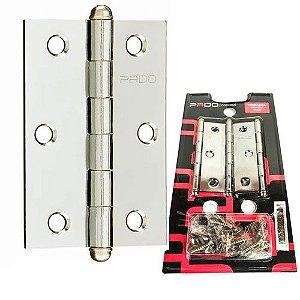 Dobradiça Leve 3.5 Para Porta Em Aço Sm 3 Peças 3521 - Pado