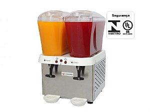 Refresqueira Inox 2 Reservatórios de 16 litros RV216 Venâncio 220V