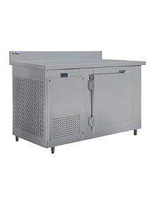 Balcao de servico inox encosto resfriados 1500 mm ar forcado rf 034 2 a 7 graus