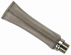 """Bazooka filtro de inox 6"""" BSP / rosca macho 1/2'"""