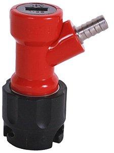 Conector Pin Lock Líquido OUT Curto (vermelho e preto) - Espigão