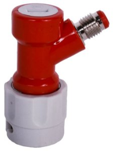 Conector Pin Lock Gás IN Curto (vermelho e cinza) - Rosca