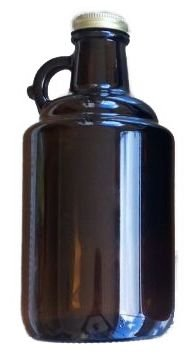 Growler de vidro 1 litros