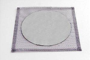 Tela de Arame Galvanizado com Disco Refratário ao Calor 20x20cm